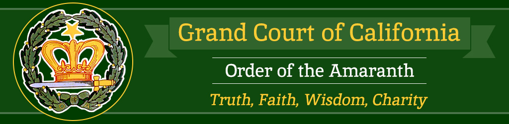 Grand Court of California - Order of the Amaranth